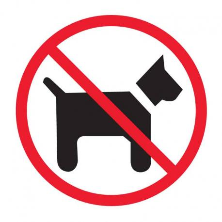 APLI 846 Забранено за кучета - самозалепващ знак