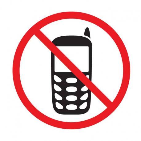 APLI 848 Забранено говоренето по телефона - самозалепващ знак