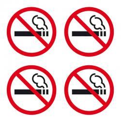 APLI 12139 Забранено пушенето - 4 самозалепващи знака