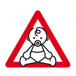 APLI 12135 Бебе в колата - самозалепващ знак