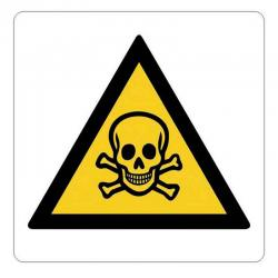 APLI 10950 Внимание! Отрова - самозалепващ знак