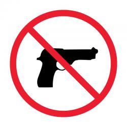 Знак 921 Забранено за оръжия - самозалепващ знак