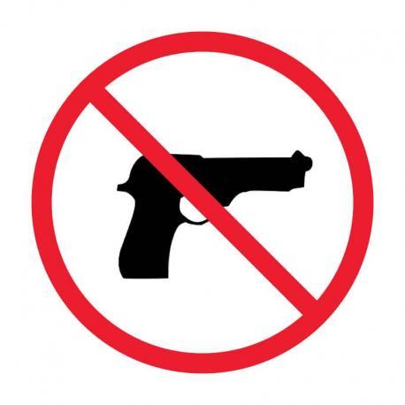 APLI 108 Забранено за оръжия - самозалепващ знак