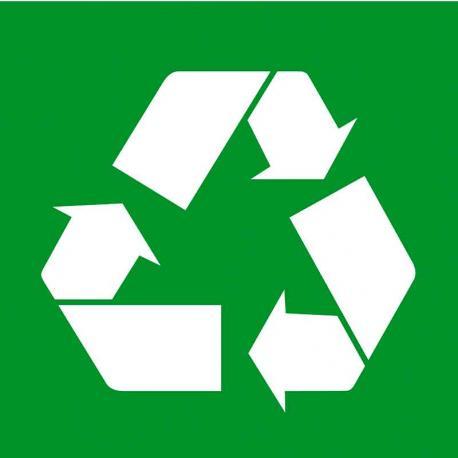 APLI 12133 Рециклиране - самозалепващ знак
