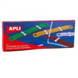 APLI 14909 Цветни пластмасови държачи, 50бр