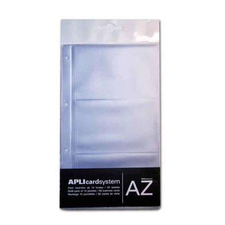 APLI 12257 Резервни джобчета за визитки, 10бр.