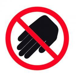 APLI 10948 Не докосвай - самозалепващ знак