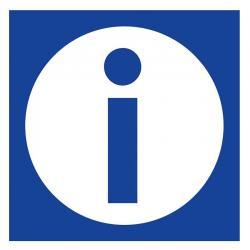 APLI 10947 Информация - самозалепващ знак