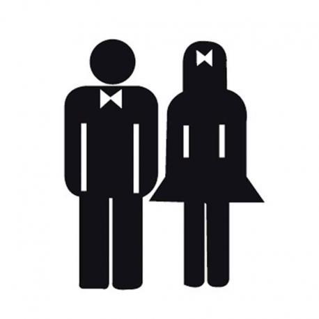 APLI 837 За жени и мъже - самозалепващ знак