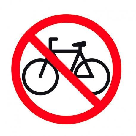 APLI 12134 Забранено за велосипеди - самозалепващ знак