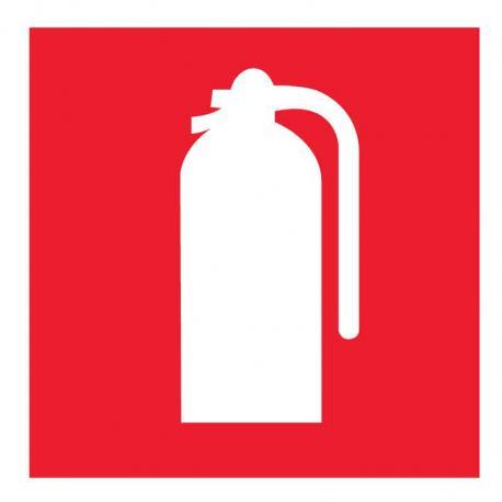APLI 841 Пожарогасител - самозалепващ знак