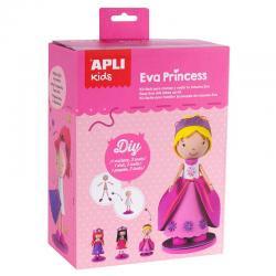 Кукла ЕВА Принцеса с 3 рокли - творчески комплект