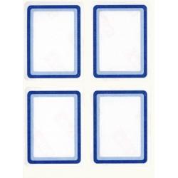 APLI 00298 Класически етикети, синя рамка
