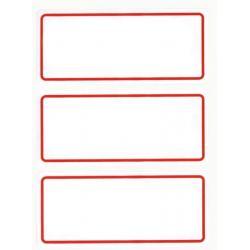 APLI 00934 Класически етикети,  червена рамка