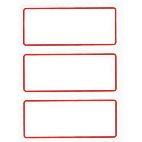 Класически етикети с червена рамка за надписване на папки и тетрадки