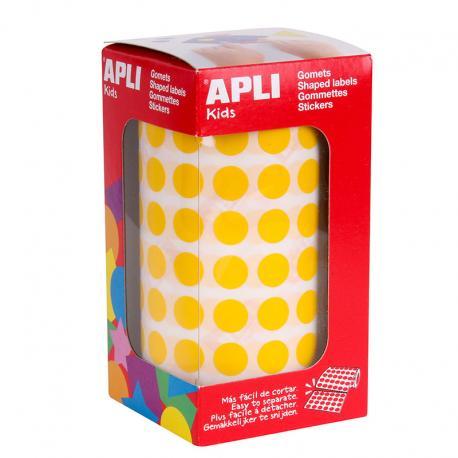 APLI Самозалепващи кръгчета на ролка Ф10,5мм, различни цветове