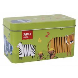 Домино - Числа и животни в метална кутия
