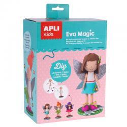 Кукла ЕВА Вълшебница с 3 рокли - творчески комплект