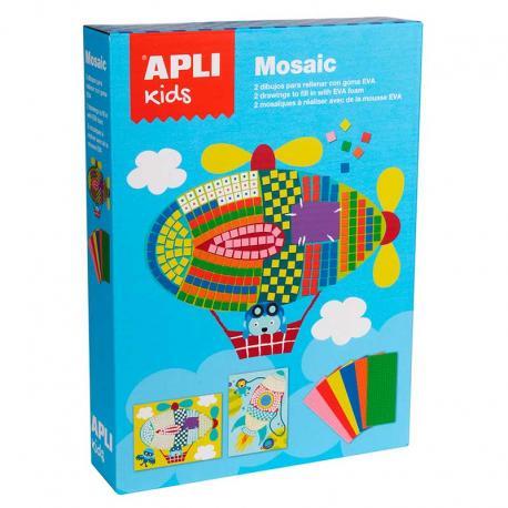 Детска мозайка - творчески комплект за картини на тема Транспорт