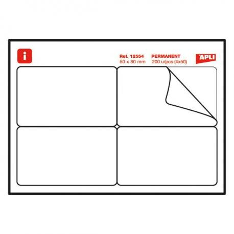 APLI 12554 Бадж етикети - мемори стикери