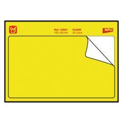APLI 12557 Мемори стикери с дълготрайно лепило - Неоново жълти етикети