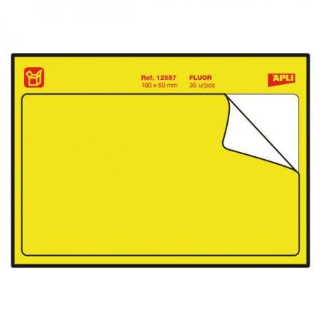 Неоново жълти етикети - мемори стикери с дълготрайно лепило