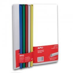 Комплект от 5 прозрачни папки А4 с 5 цветни шини