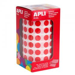 APLI Самозалепващи кръгчета на ролка Ф15мм, различни цветове