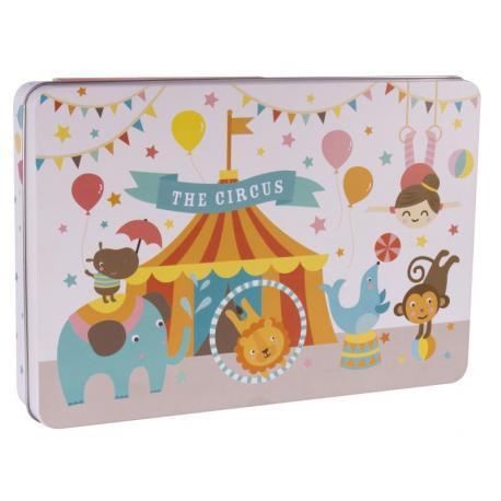Пъзел Цирк в метална кутия