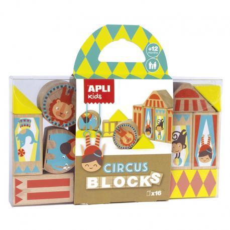 Дървени блокчета Цирк