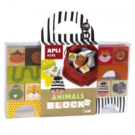 Дървени блокчета Животните