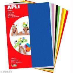 APLI Kids 12372 - Крафт EVA пяна, комплект 10 пастелни цвята 200х300х2mm
