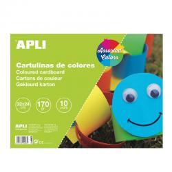 APLI 14483 Цветно блокче за рисуване и проекти с 10 листа