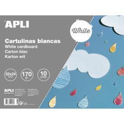 APLI 14484 Бяло картонено блокче 32х24см 10л. 170гр