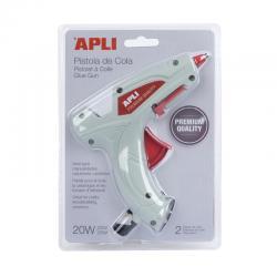 APLI 16668 Пистолет за топло лепене със силикон 20W Премиум