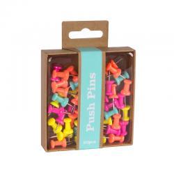 Цветни пинове за коркова дъска , 50 броя в опаковка