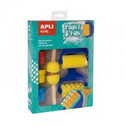 APLI 15135 Комплект за боядисване с печати, валяци и бои