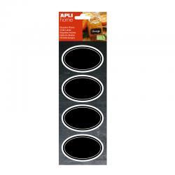 Домакински етикети с черна дъска 80х50, овал