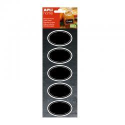 Етикети с черна дъска 65х41мм Овал, 10 броя