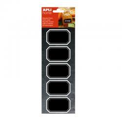 Етикети с черна дъска 65х41мм Правоъгълни, 10 броя