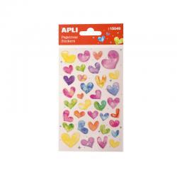 APLI 15049 Самозалепващи епокси стикери - Сърца с преливащ ефект