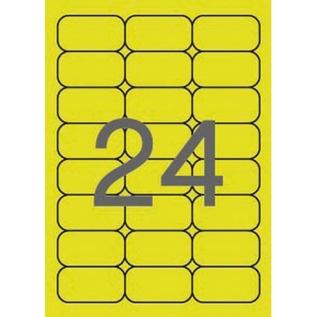 APLI 02870 Флуоресцентно жълти самозалепващи етикети 64х33,9мм  за лазерен принтер