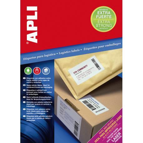 Бели принтерни етикети екстра здрави Apli 11787