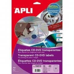 APLI 10213 Прозрачни етикети за дискове с фото качество