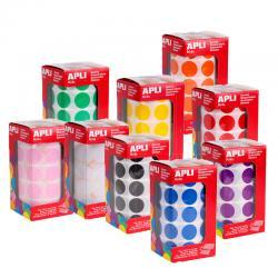 APLI Самозалепващи кръгчета на ролка Ф20мм, различни цветове