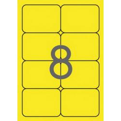 APLI 02874 Флуоресцентно жълти самозалепващи етикети 99,1х67,7мм  за лазерен принтер