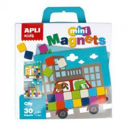 Град от цветни квадрати, мини магнитна игра