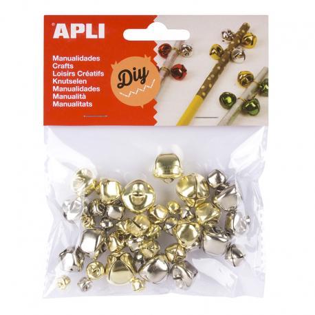 APLI Метални камбанки със звънче, 40 броя