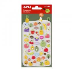 APLI 17180 Самозалепващи стикери от пяна - Плодове с усмивки