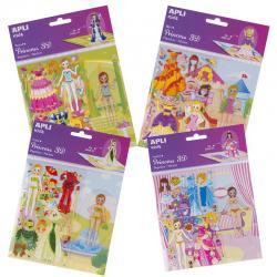 3D Стикери за преобличане с Кукла и 4 сцени